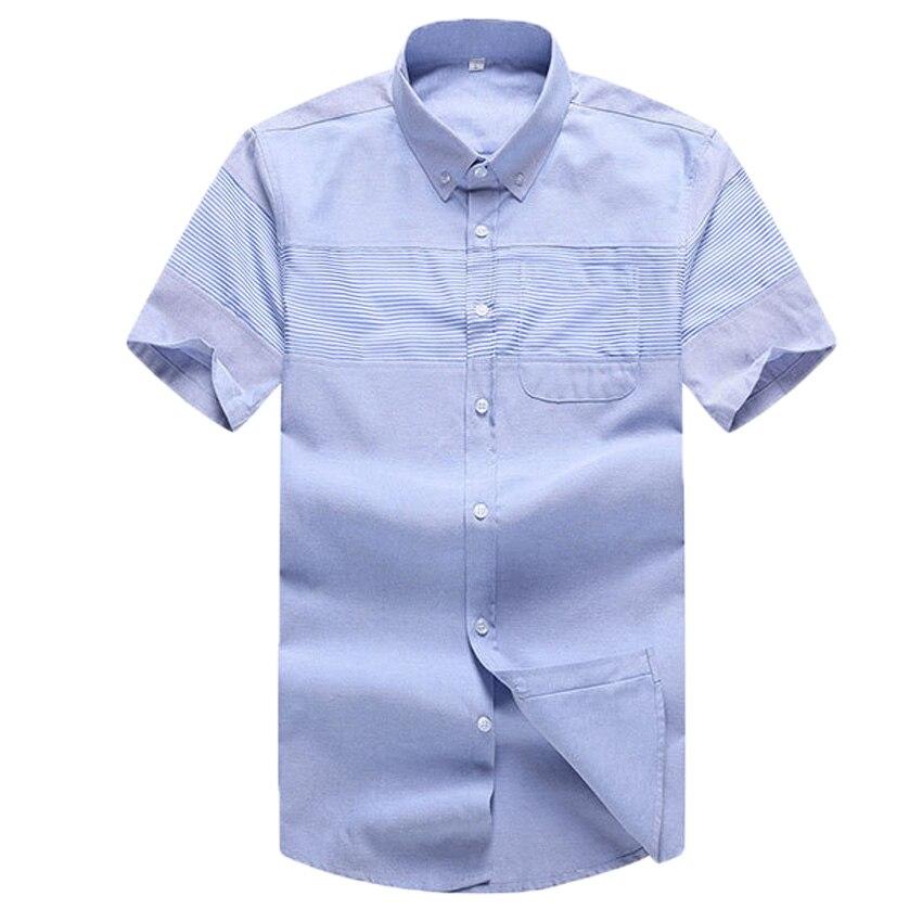 Mens Big Size Short Sleeve Summer Oxford Shirts 3XL to 5XL