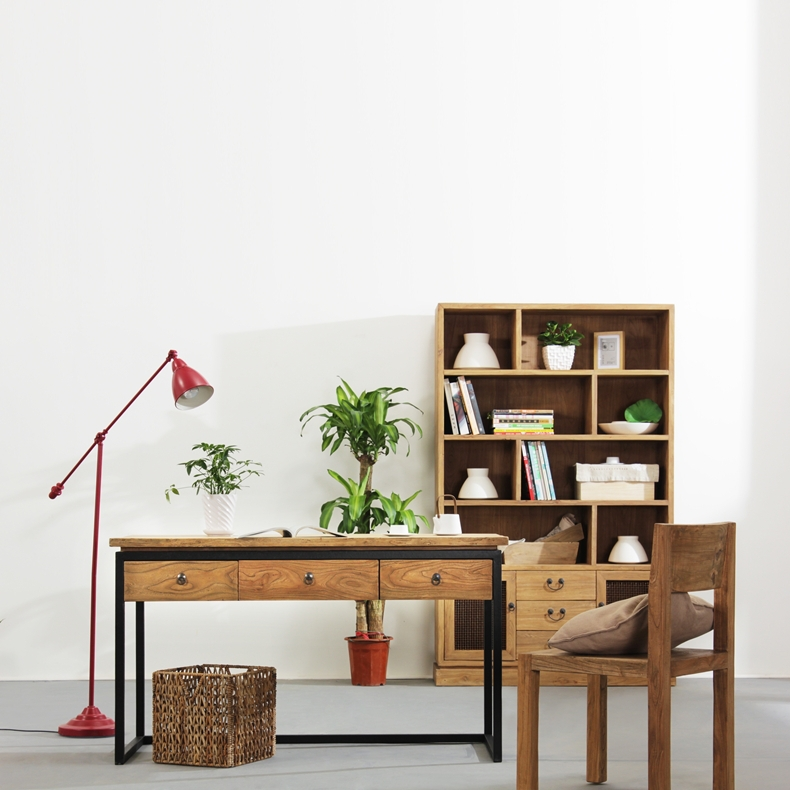 All Solid Wood Wrought Iron Desk Study Computer Desktop Office Tables Minimalist New Chinese Furniture In Desks From On