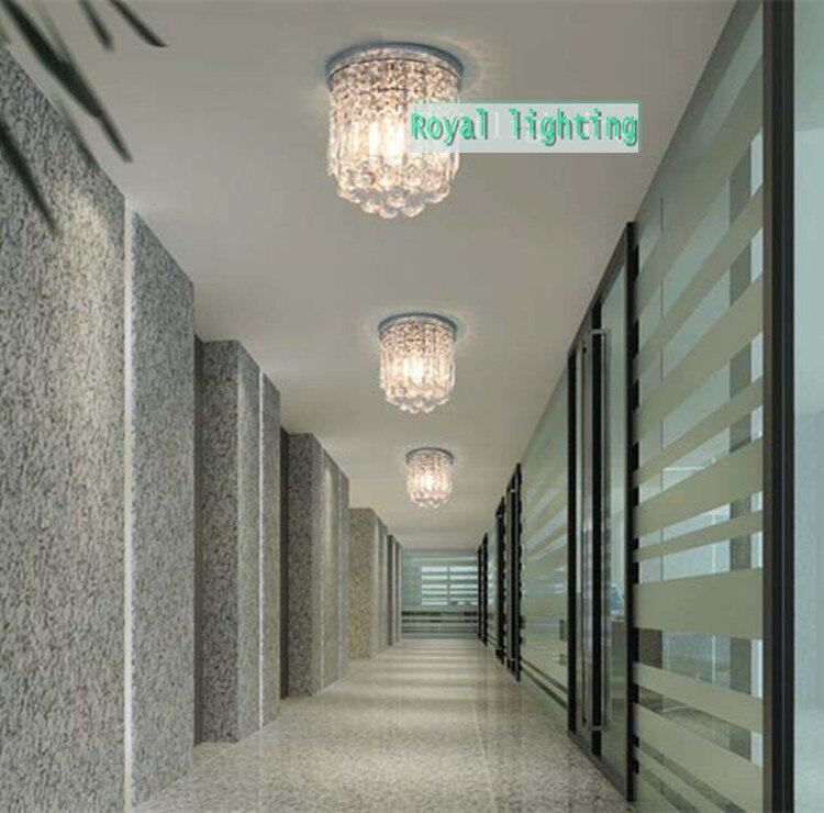 Milan mini veranda licht esszimmer runden kristall deckenleuchte E27 led lampe klarem kristall Küche Flur deckenleuchte - 3