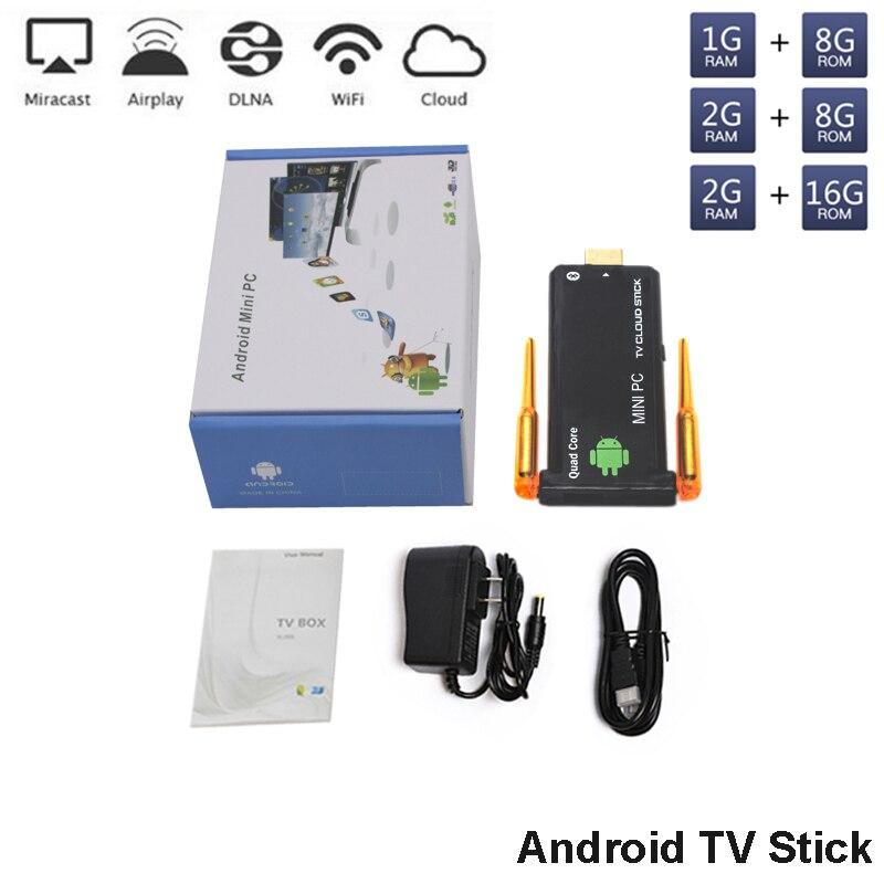 J22 4 k HD Android Mini PC RK3229 Qual core TV Stick 2G RAM 8G/16G ROM TV Dongle UHD lecteur multimédia sans fil Dongle Smart TV Box