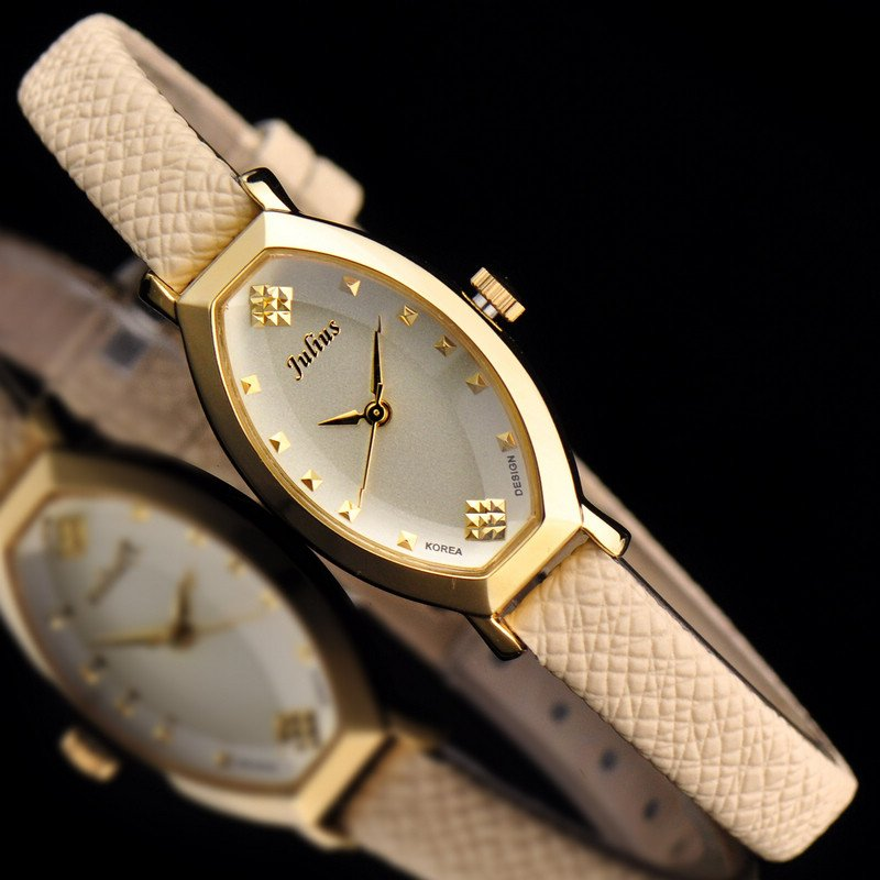 Top Japan Quartz Julius Lady Women's Watch Elegant Simple Business Fashion Hours Dress Clock Bracelet Leather Girl Gift Box