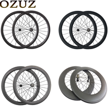 OZUZ 700C Ultra Light Carbon Wheels 24mm 38mm 50mm 60mm 88mm Carbon Clincher Tubular Wheelset Road Bike Bicycle Wheels