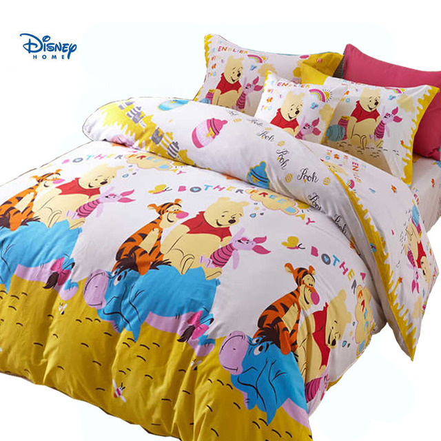 Disney Winnie The Pooh Bear Beddiings Comforter Sets Single Queen Twin Full Size Cute Kid Cartoon