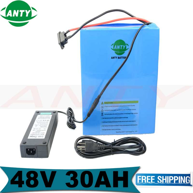 48V 30Ah Lithium Battery bafang 2000W 48V Electric Bicycle With 54.6V 2A Charger 50A BMS DIY eBike Bike Rechargeable Battery free customs taxes ebike battery 48v 40ah 2000w electric bicycle lithium battery pack with charger and 50a bms