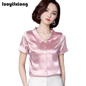 cb21c8c96b2a48 Luoyifxiong 2018 Summer Plus Size Women Shirts