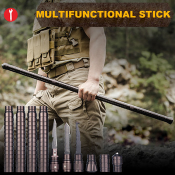 Outdoor Camping DIY Self Defense Stick Safety Multi-Functional Home Car Defensive Protection Rod Hiking Emergency Survival Tool climbing hiking tool pole home car self defense sticks diy camping equipment emergency survival tools for outdoor walking stick