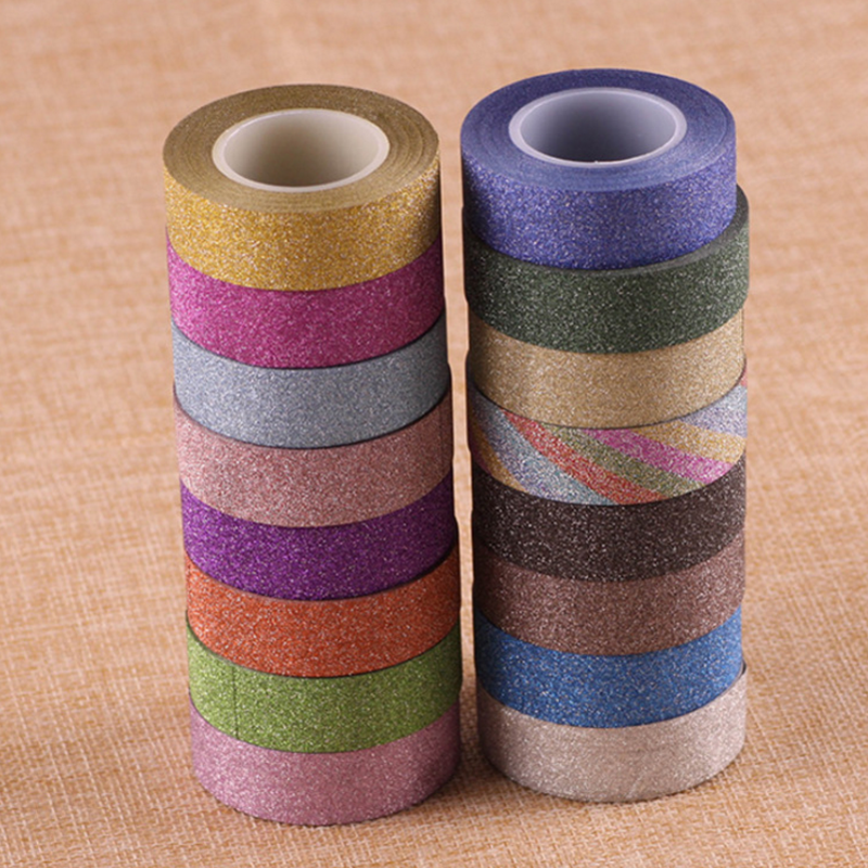 1pcs Rhythmic Gymnastics Decoration Holographic Tapes Prismatic Glitter Tapes Artistic Hoops Stick 10M Gym Gymnastics  Stick