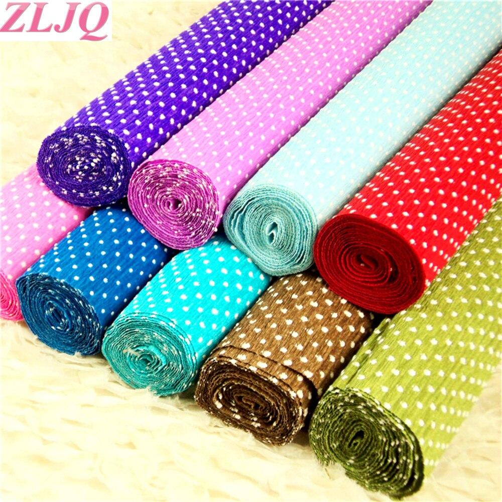 Zljq 50cm25m Polka Dot Multi Wrapping Paper For Flowers Korean
