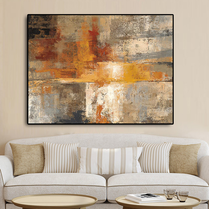 Abstract Nordic Style Gold Oil Painting On Canvas Posters And Prints Scandinavia Art Wall Pictures For Living Room Home Decor