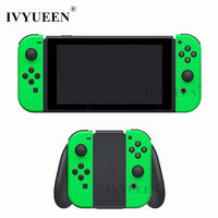 IVYUEEN For Nintend Switch Joy Con Neon Green Pink Shell Case For JoyCon Controller Replacement Housing