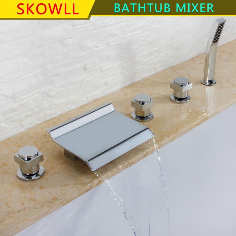 Robinet de baignoire cascade Chrome température baignoire mitigeur Robinet