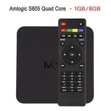 В Наличии! MX Amlogic S805 Quad Core TV Box Android 4.4 Kitkat H.265 Wi-Fi Miracast Airplay HDMI 1 ГБ RAM 8 ГБ ROM Media плеер