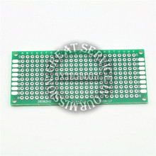 5pcs/bag two-sided  HASL 3 * 7CM breadboard /  thick 1.6MM glass material 2.54mm universal plate