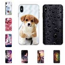 For Apple iPhone XS Max Cover Soft TPU Silicone Case Romantic Love Patterned max Shell Coque