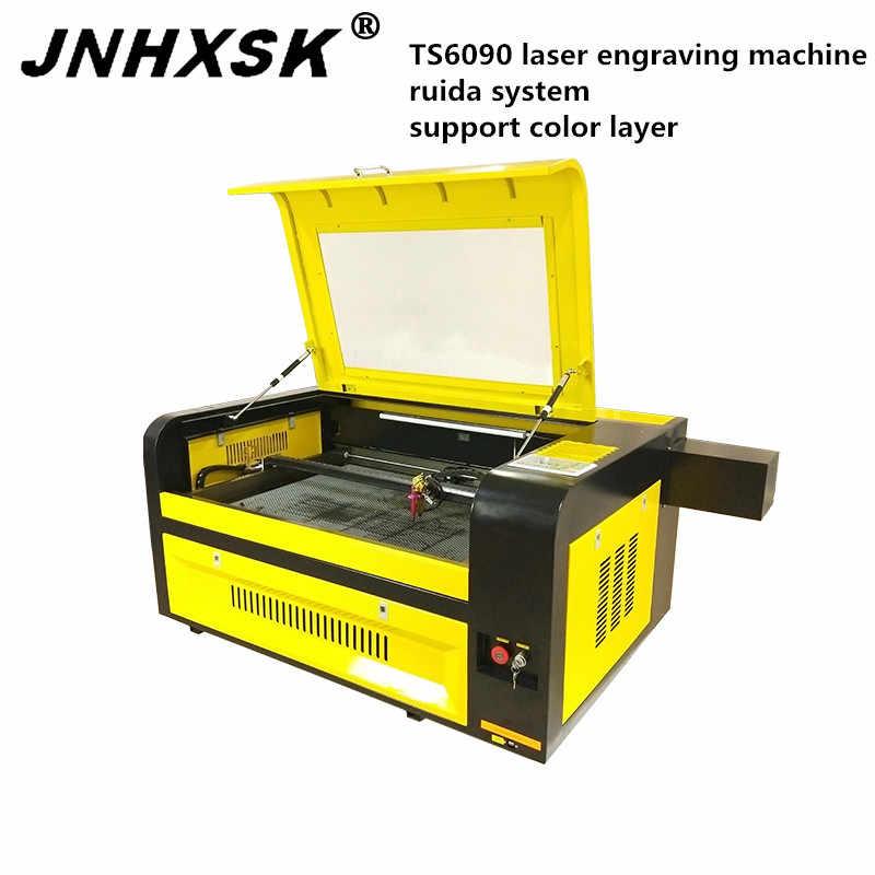 JNHXSK TS6090 80 wát Ruida hệ thống cắt khắc laser máy hỗ trợ lớp màu CO2 ống laser CNC usb 2.0 giao diện