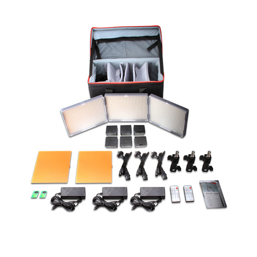 Aputure Amaran LED Video Camera Light set HR672KIT led photography light LED light HR672SSW Kit 3 LED video light set aputure amaran led video camera light set hr672kit led photography light led light hr672ssw kit 3 led video light set
