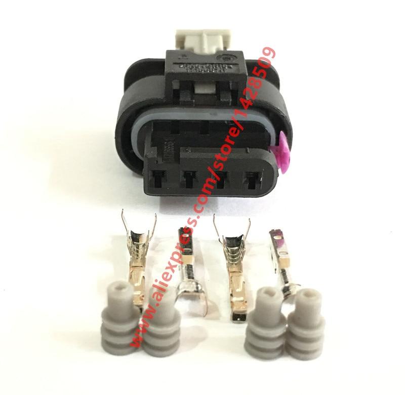 5 Sets 4 Pin MAP Sensor Automotive Connector Plug For VW Audi A4 A6L Golf Magotan