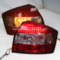 LED Tail Light For Audi A4 B6 LED Rear lamp 2001 04 Red White