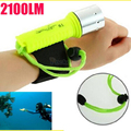New 2100LM CREE T6 LED Waterproof underwater scuba Dive Diving Flashlight Torch light lamp for diving free shipping zk93