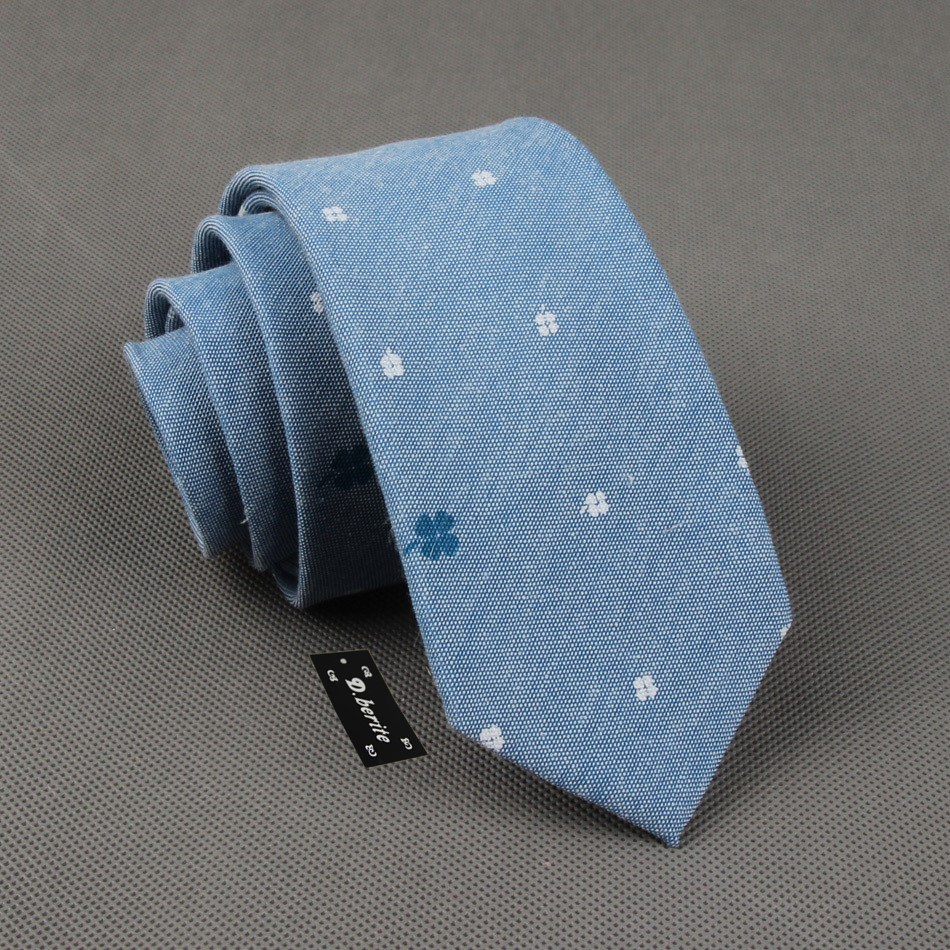 Мужской светло-голубой хлопковый классический узкий галстук мальчишник с цветочным принтом, галстук в деловом стиле SK402