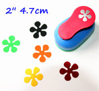 Free Shipping 2 Inch 4 7cm Flower Design Scrapbooking Punch Eva Foam Punch Paper Punches For