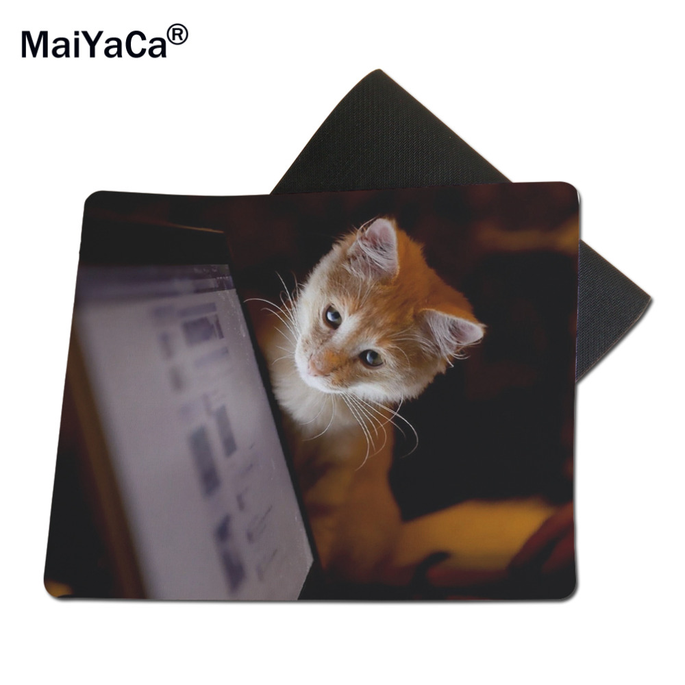 MaiYaCa Cool Animals Cats Rubber Mouse Pad Desk Mat 18*22cm and 25*29cm Anti-skid table mats