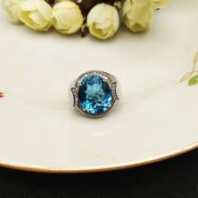 лучшая цена shilovem 925 silver sterling ring natural topaz  open men ring trendy fine Jewelry anniversary 2018 new wholesale j121401agb