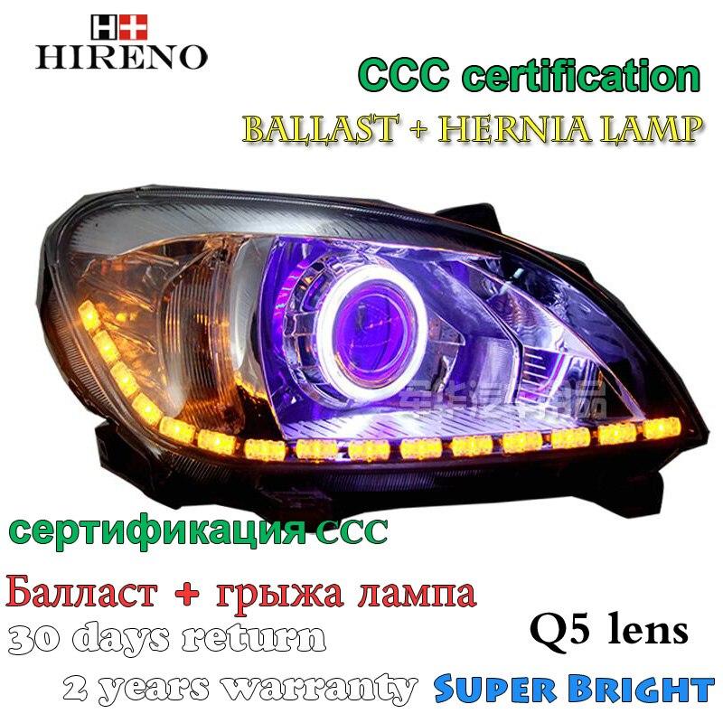 Hireno Modified Headlamp for Great Wall C30 2010-2014 Headlight Assembly Car styling Angel Lens Beam HID Xenon 2 pcs