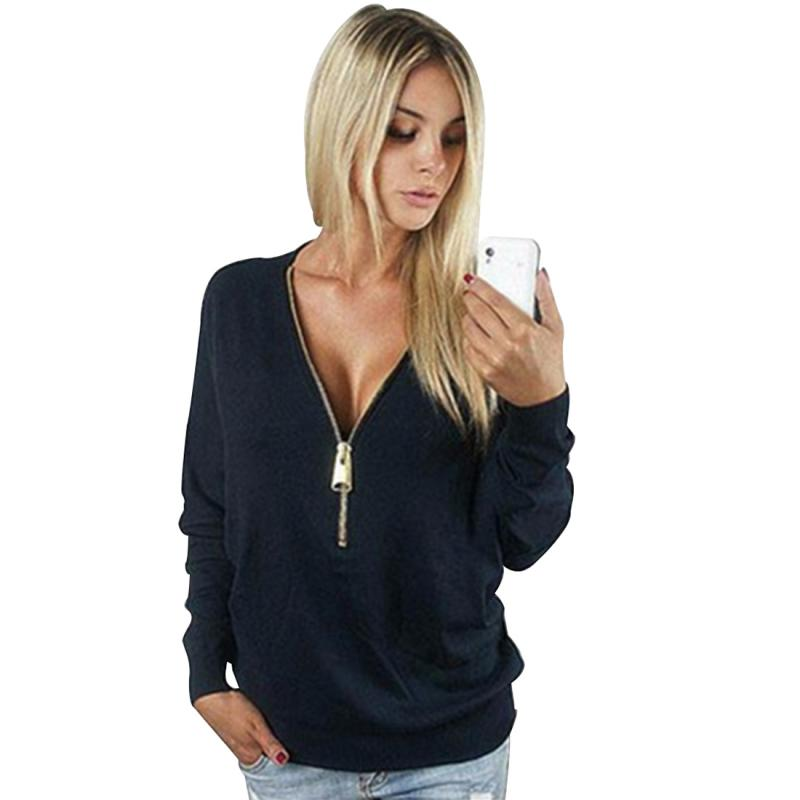 Favolook Women Sweatshirts Zipper Short Pullover Female