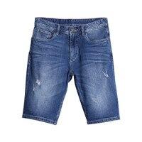 Vintage Erkekler Kısa Jeans Casual Yaz Yıkanmış Delik Kot Erkek şort Moda Eğlence Düz Kot Şort Adam için 2017 Sıcak eğilim