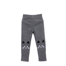 Toddler Baby Girls Kids Skinny Pants Cute Cat Print Stretchy Warm Leggings