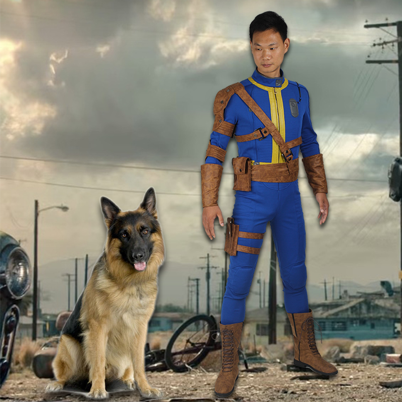 PC Game Fallout 4 Cosplay Costume Sole Survivor Nate Cosplay Jumpsuit Clothing Halloween Party Superhero Outfit
