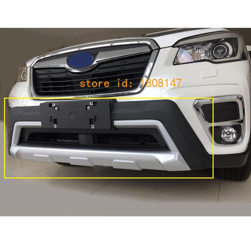 Haute qualité pour Subaru Forester 2018 2019 voiture ABS en plastique avant pare-chocs hayon bande de pédale garniture plaque seuil de lampe 1 pièces