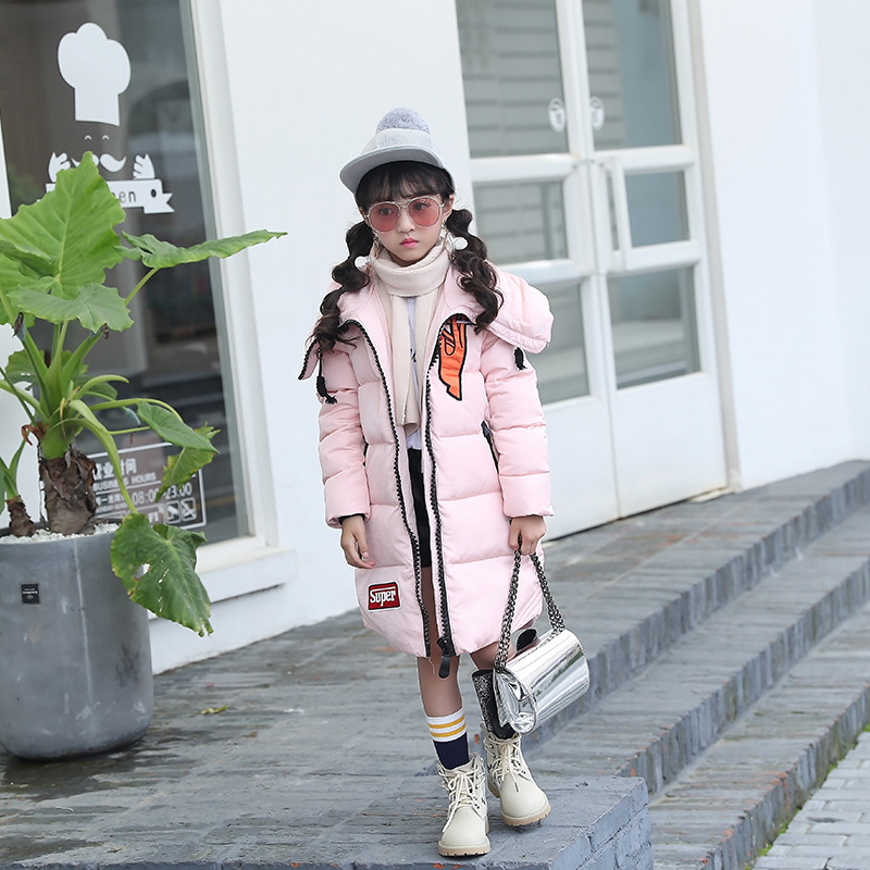 Mioigee NEW Winter Russia Baby Coats Thick Duck Warm Jacket For Girls Boys Children Outerwears Fashion Girl's Down Jackets new winter girls boys down jackets baby kids long sections down coats thick duck down warm jacket children outerwears 30degree