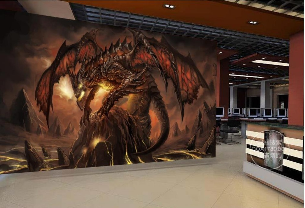 Maßgeschneiderte 3d Wallpaper World Of Warcraft Fire Dragon Spiel