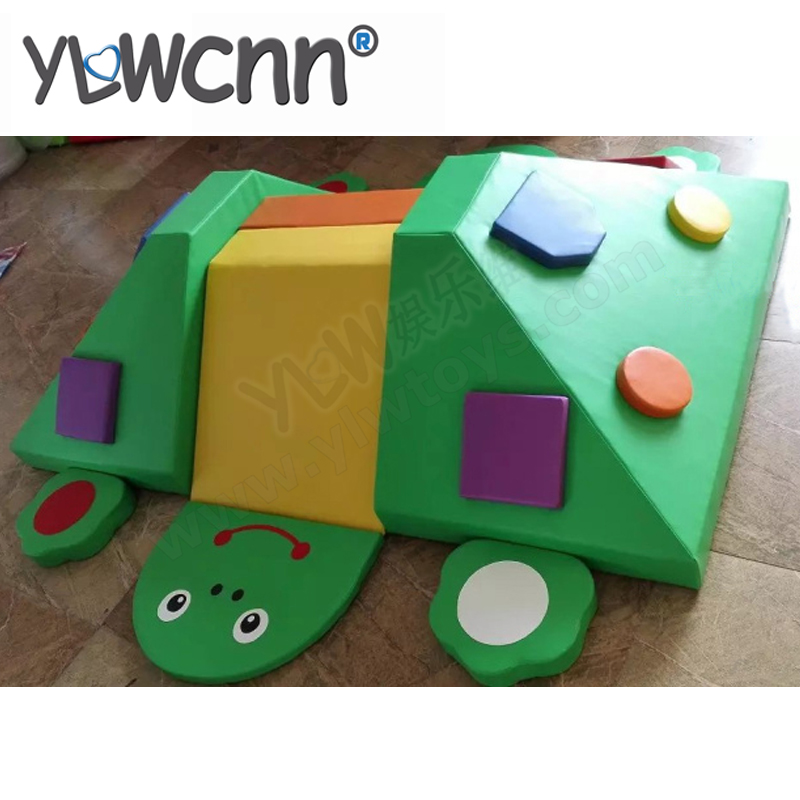 YLW logiciel personnalisé enfants dessin animé doux jouet bébé aire de jeux intérieure dessin animé doux slideYLW-INA171060