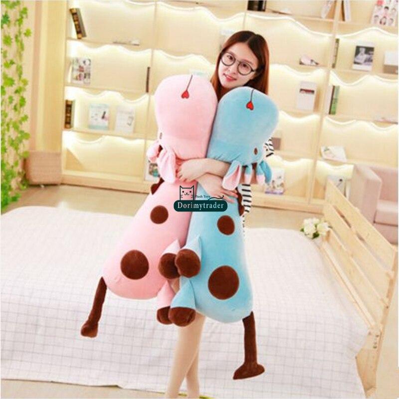 Dorimytrader 85cm Giant Lovely Soft Lying Giraffe Plush Pillow Big 33'' Stuffed Animal Giraffe Toy Bedroom Decoration Gift