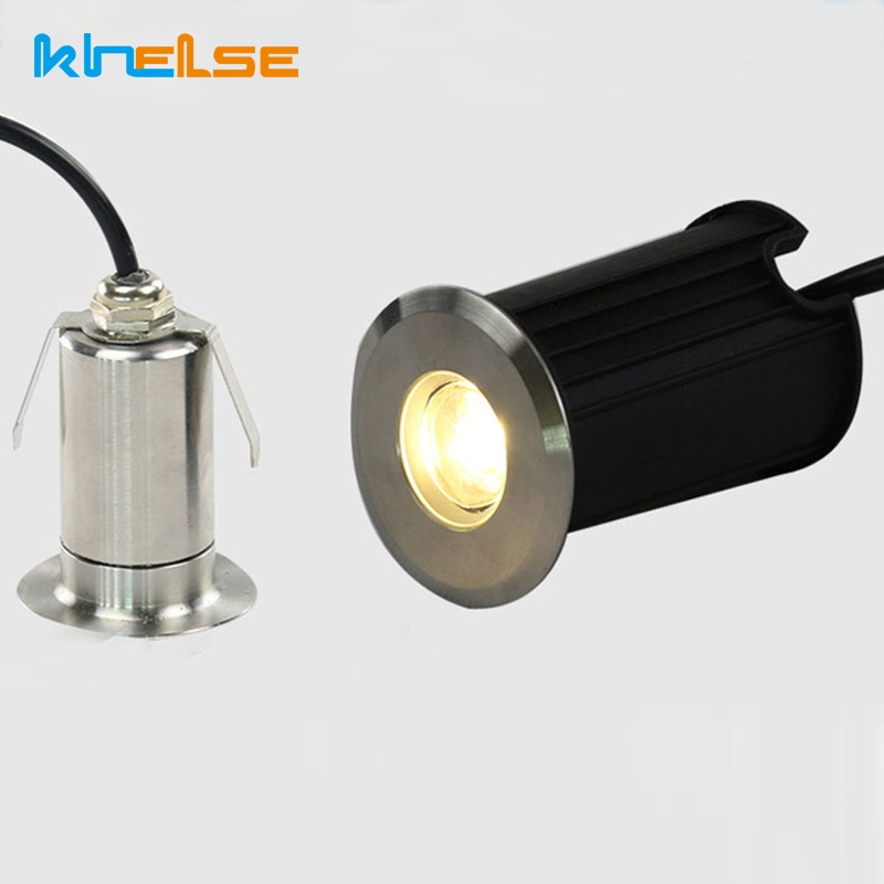 Us 18 16 30 Off 2pcs Lot Mini 1w 3w Led Recessed Lights Dc12v 24v 90 260v Ip68 Waterproof Underground Buried Spot Floor Underwater Lamps In