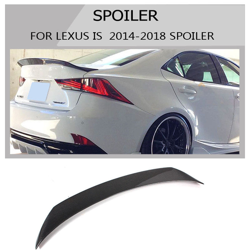 carbon fiber spoiler wing for lexues IS200t IS250 IS350 2014-2018 ar styling цена