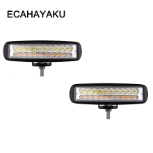 ECAHAYAKU 2x 6 inch 60W LED Work Light bar for Motorcycle Tractor Boat Off Road 4WD 4x4 Truck SUV ATV Spotlight 12v 24v fog lamp freeshipping 4 inch 50w led work light lamp for motorcycle tractor boat off road 4wd 4x4 truck suv atv spot flood 12v 24v