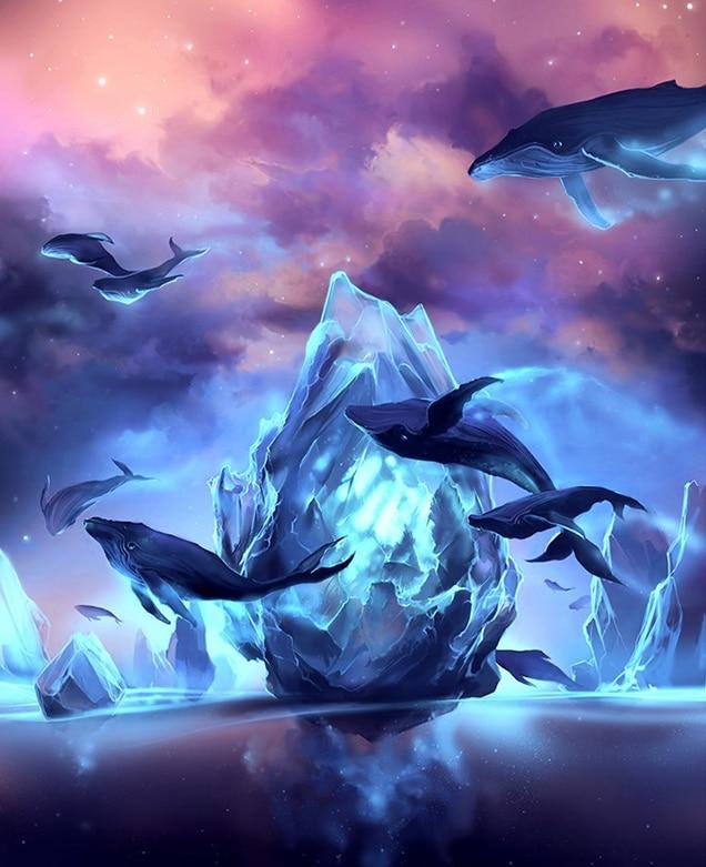 Полный Круглый 5D DIY Алмазная картина животное Дельфин Алмазная вышивка Стразы домашний декор