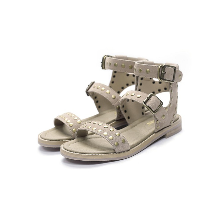 ФОТО Vintage Leather Oxford Roman Sandals by the end of 2017, cow nubuck leather match Microfiber lining and rivets tendon end of lei