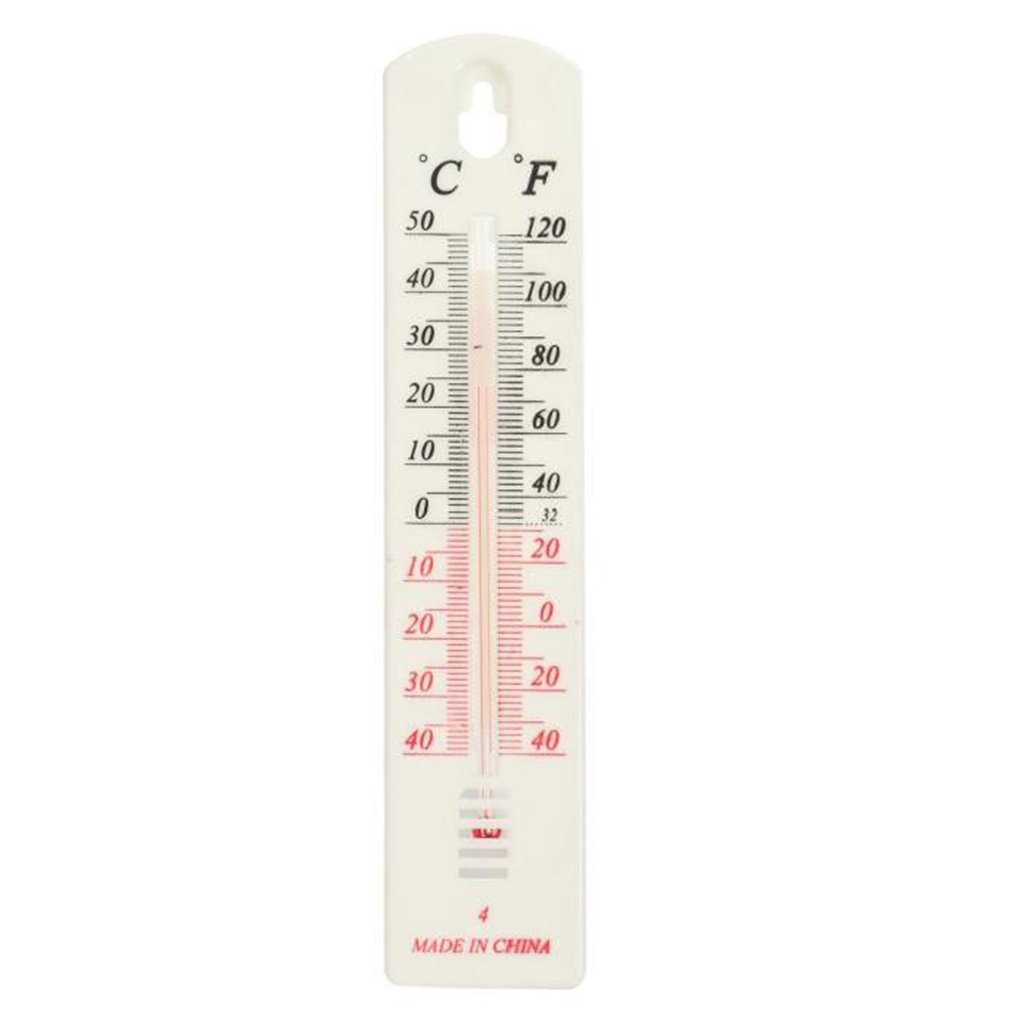 Indoor Outdoor Pendant Thermometer Home Wall Hang Temporary Mercury Pointer White Hygrometer