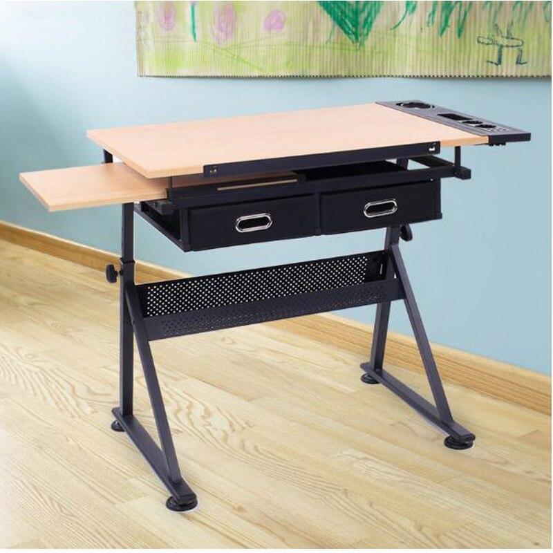 250639/Pode ser levantado para baixo para ajustar a tabela/mesa de crianças a aprender a escrever/escola elementar estudante secretária