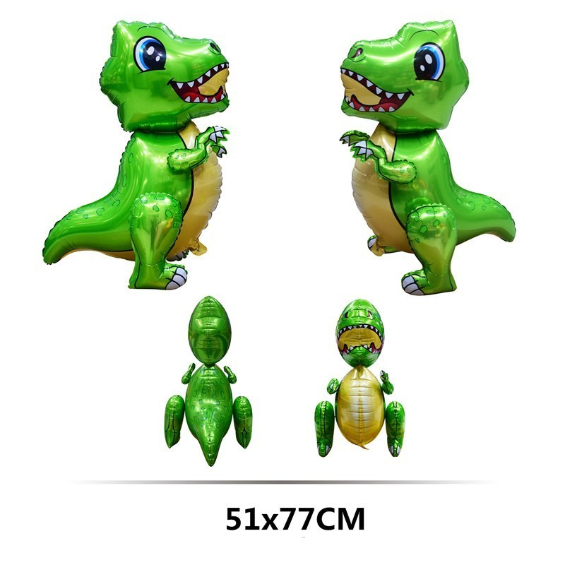 1pc Large 4D Walking Dinosaur Foil Balloons Dinosaur Birthday Party Decorations Kids Babyshower 1st Decor Globos kid's Gift Toy