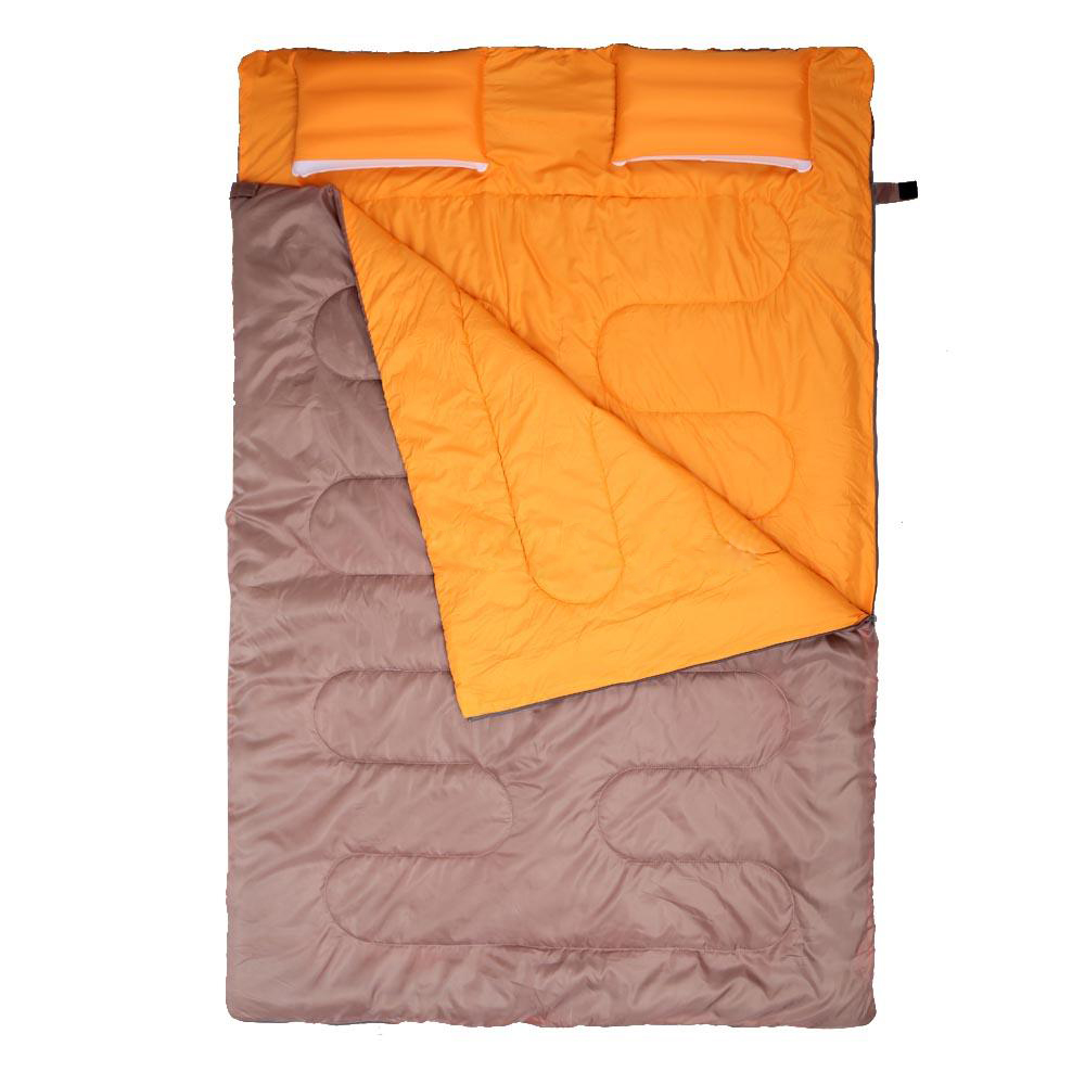 NatureHike Double Sleeping Bag 23F/-5C Outdoor Camping Hiking W/ 2 Pillows 2 Person