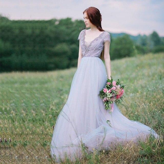 Bohemian Bridesmaid Purple Dress