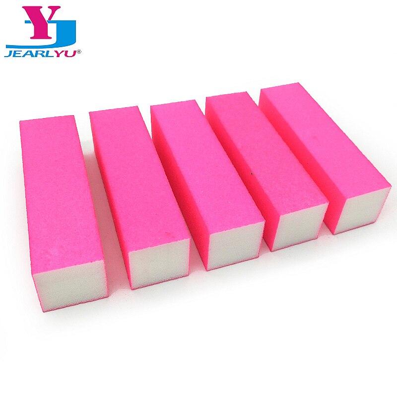 5pcs Pink Nail File Block Buffing Lime A Ongle Professional Sanding Block Polish Set Sponge High Qualtity Tips Buffer File