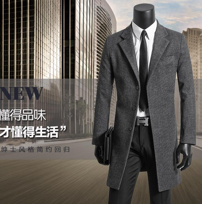 Men's clothing plus size 9XL wool coat mens overcoat woolen coats single-breasted outerwear gray casaco masculino fashion 2020