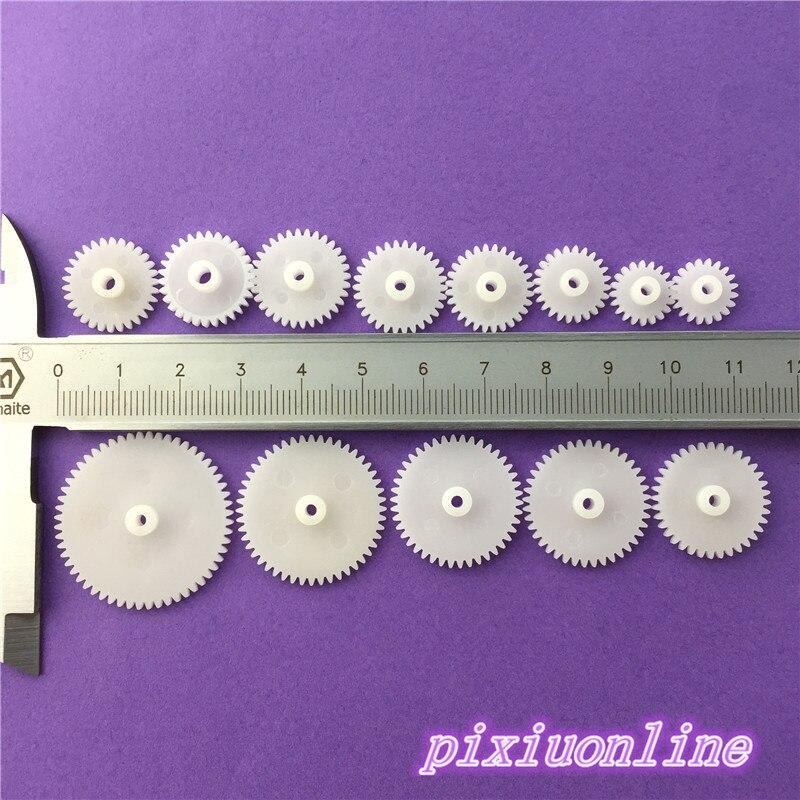 Ev Dekorasyonu'ten Dişliler'de 12 adet K004Y DIY Plastik Mil dişli seti Tek Katmanlı aktarım dişlisi Robot Parçaları Satılık Yüksek Kalite title=